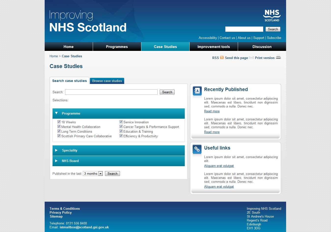 Improving NHS Scotland Case Studies Template